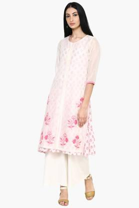 RANGRITI Womens Straight Poly Cotton Kurta - 202255883