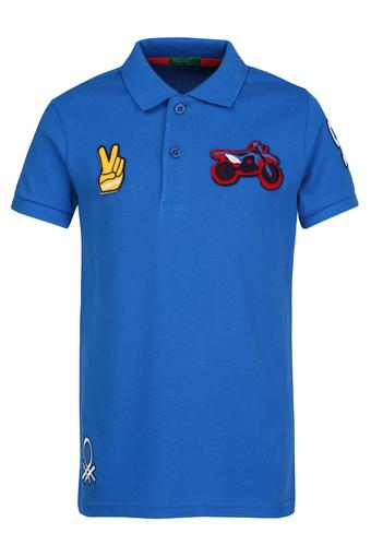 Boys Patch Work Polo Tee