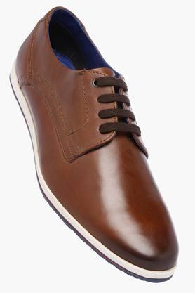 VENTURINI Mens Leather Lace Up Casual Shoes