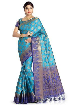DEMARCA Womens Art Silk Tussar Designer Saree - 204100130_9308