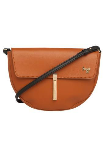 Womens Twist Clasp Closure Sling Bag