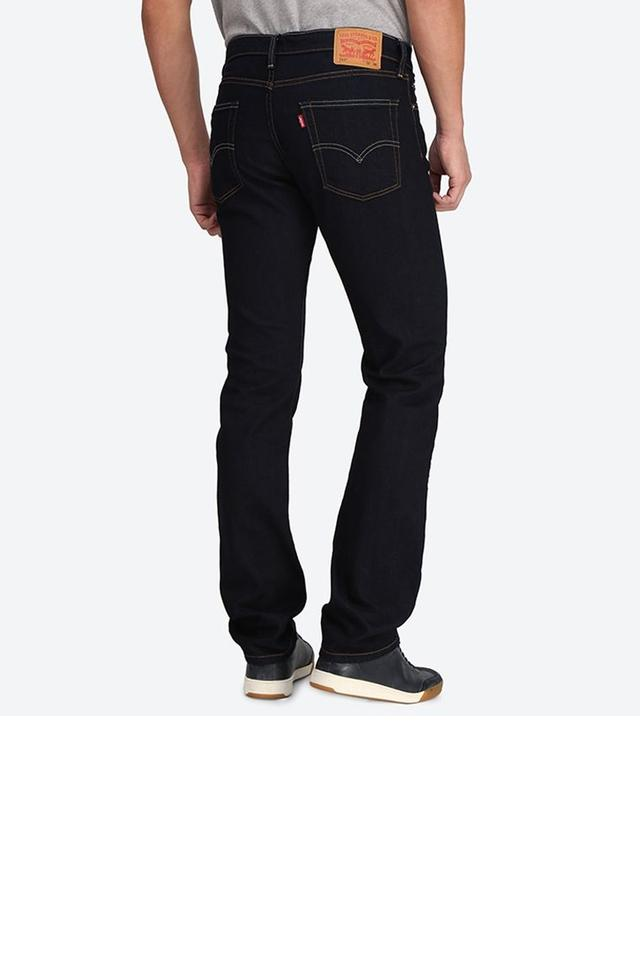Mens 5 Pocket Straight Fit Coated Jeans