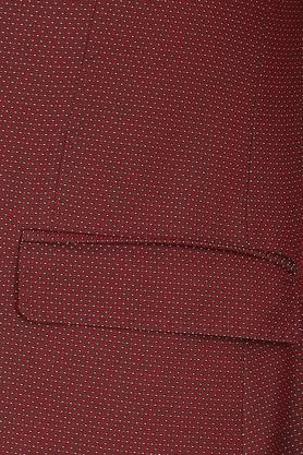 Mens Notched Lapel Dot Pattern Blazer