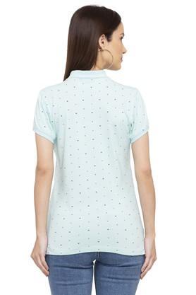 Womens Printed Polo T-Shirt