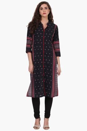 RANGRITI Womens Straight Fit Cotton Kurta