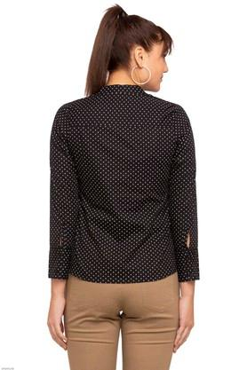 Womens Mandarin Neck Printed Shirt
