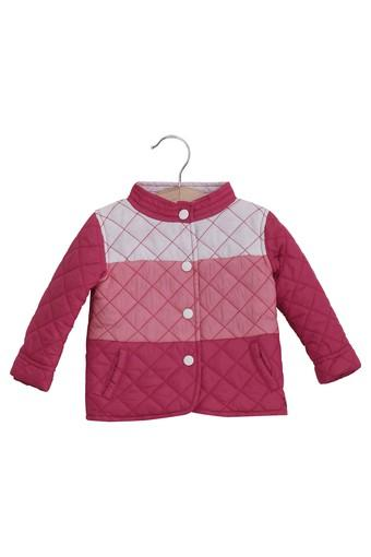 Kids High Neck Solid Jacket
