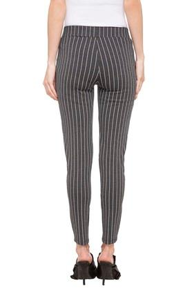 Womens Striped Leggings