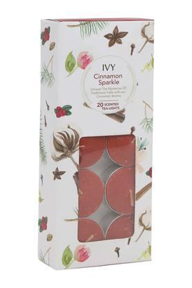 IVYCinnamon Sparkle Tea Light Candles Pack Of 20