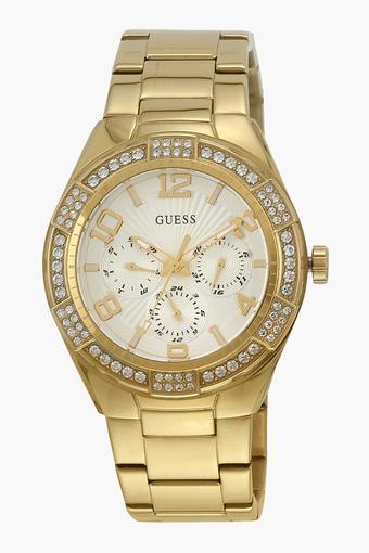 bf74b191e Buy GUESS Womens Analogue Metallic Watch - W0845L2 | Shoppers Stop
