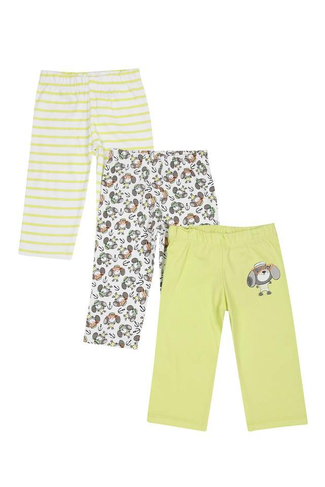 Boys Printed Striped and Solid Pyjamas - Pack of 3