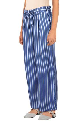 Womens Striped Casual Pants