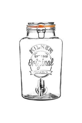 KILNER Round Dispenser Bottle With Tap And Airtight Lid - 5L