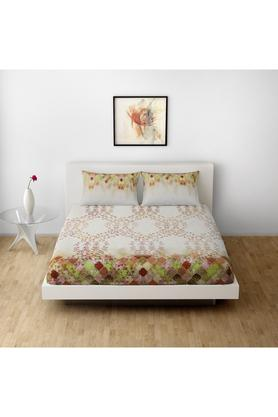 SPACESCotton Printed Double Bedsheet With 2 Pillow Covers - 203257444_9900