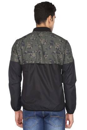 Mens Mao Collar Printed Jacket