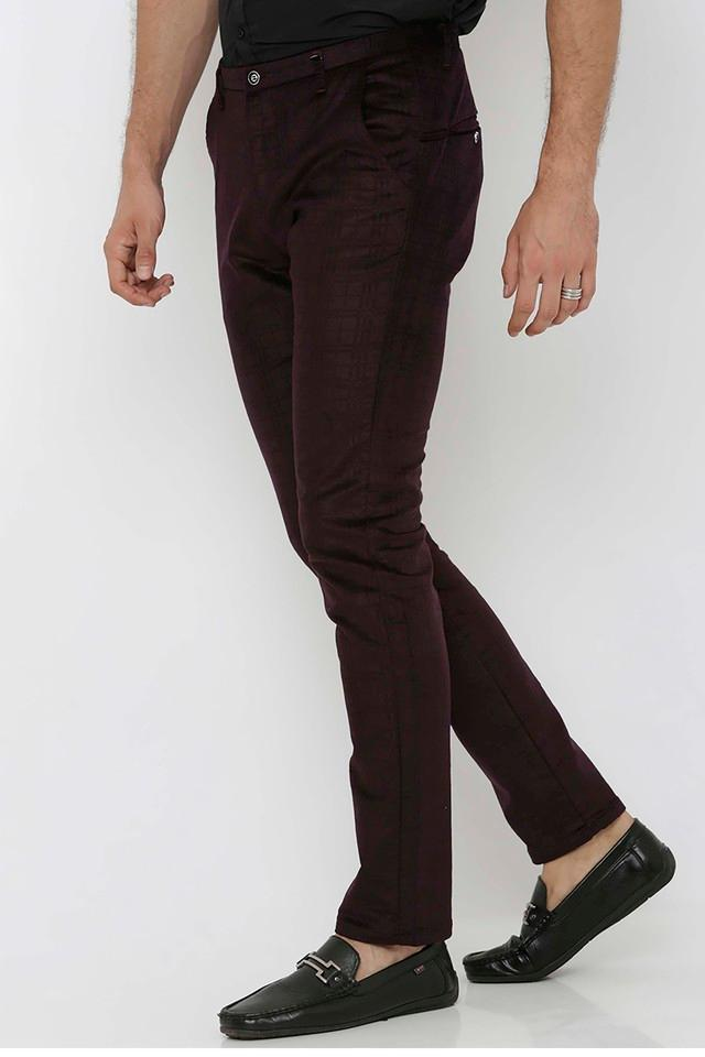 Mens Slim Fit Checks Trousers