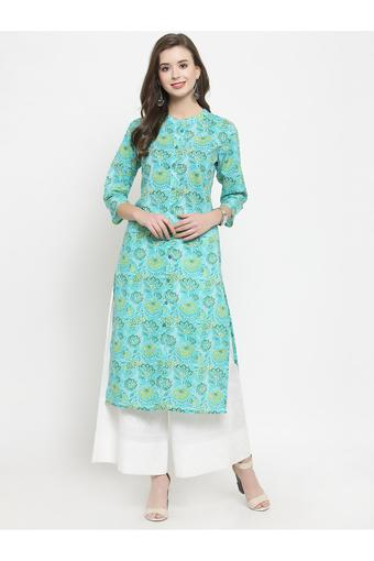 VARANGA -  Turquoise Salwar & Churidar Suits - Main
