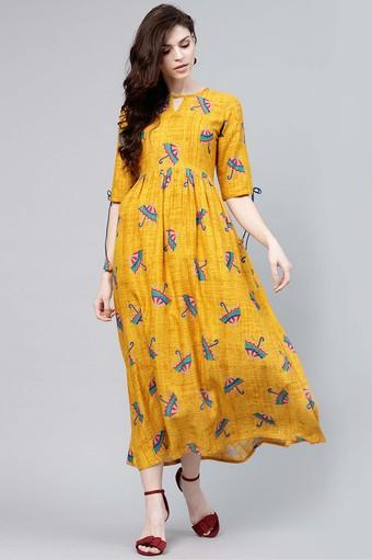 GERUA -  YellowEthnic Dresses - Main