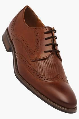 VENTURINI Mens Leather Lace Up Derbys - 203021421