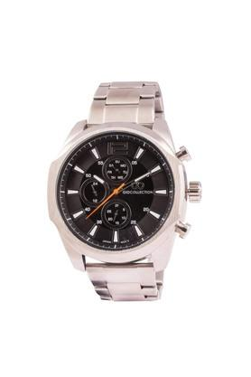 Mens Black Dial Multi-Function Watch