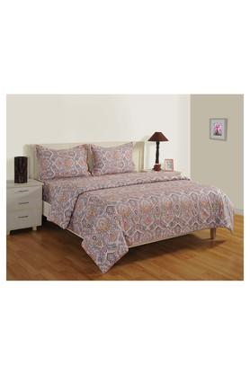 SWAYAMPrinted Double Bed Sheet, Comforter And Pillow Covers Set - 204584158_7086