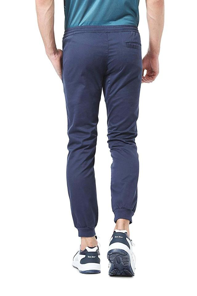 Mens Extra Slim Fit 3 Pocket Solid Track Pants