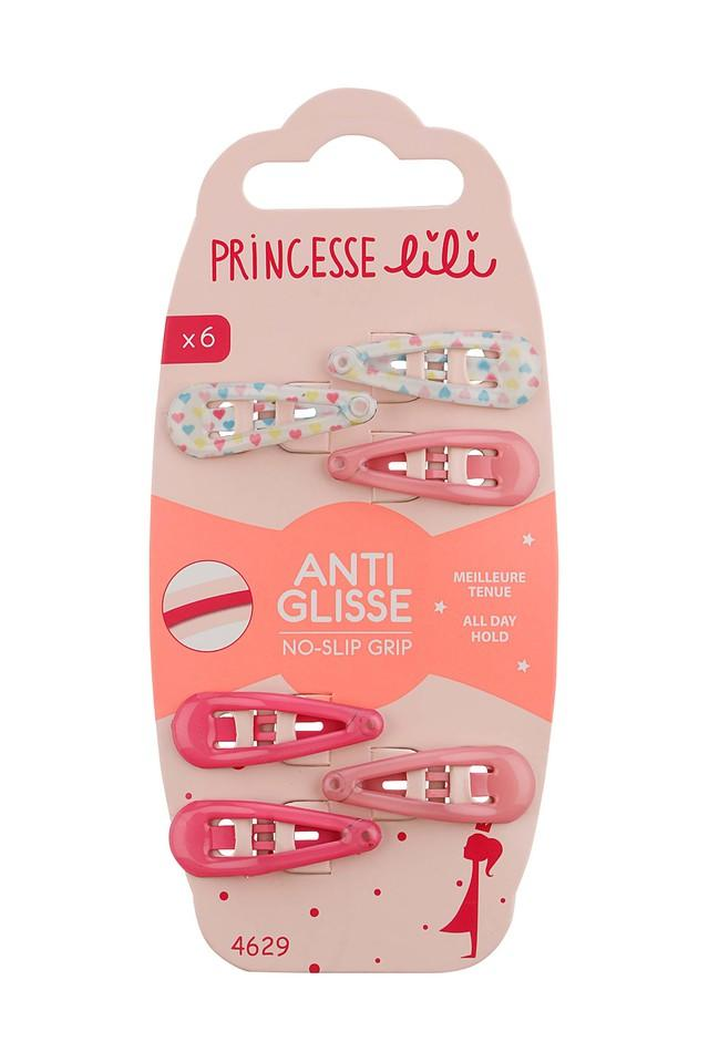 Girls Solid and Printed Tic Tac Hair Clips Pack of 6
