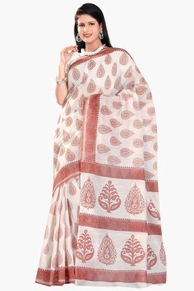 DEMARCA Womens Cotton Blend Printed Saree - 203229478