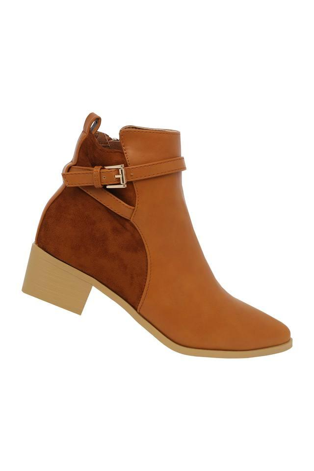 Womens Buckle Closure Boots