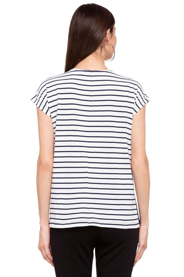 Womens Square Neck Stripe Top