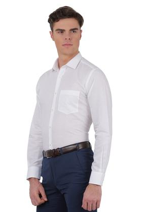 Mens Regular Fit Slub Formal Shirt