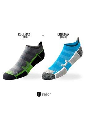 TEGO Mens Stripe Socks Pack Of 2