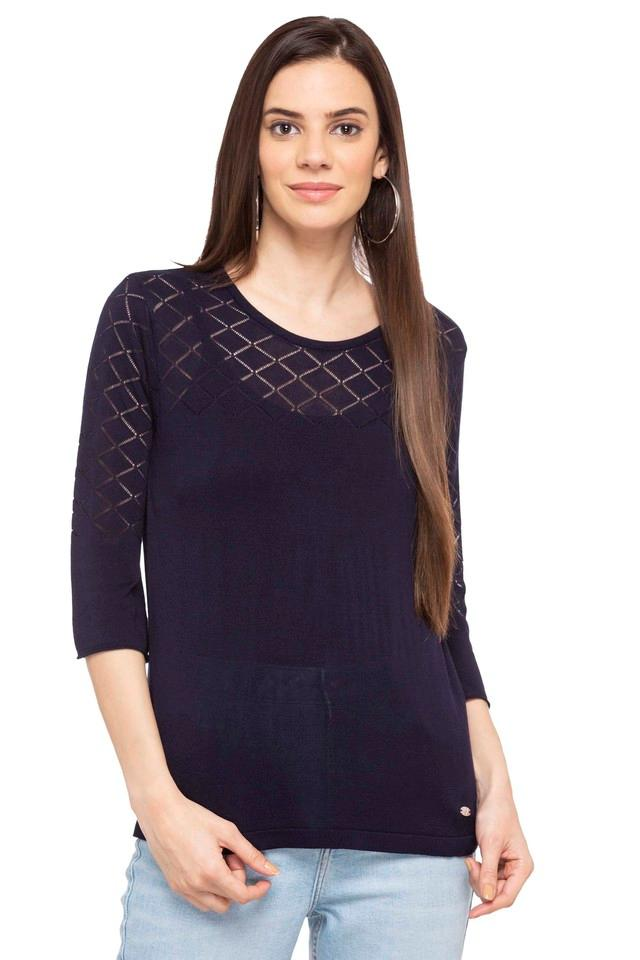 Womens Round Neck Knitted Top