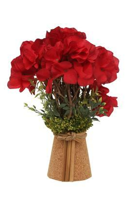 Hydra in Pot Flower Arrangement