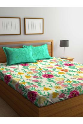 PORTICO Floral Printed Single Bed Sheet With Pillow Cover - 203989883_9900