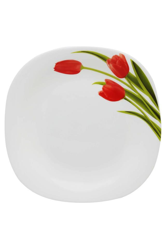 Blossoms Printed Square Quarter Plate