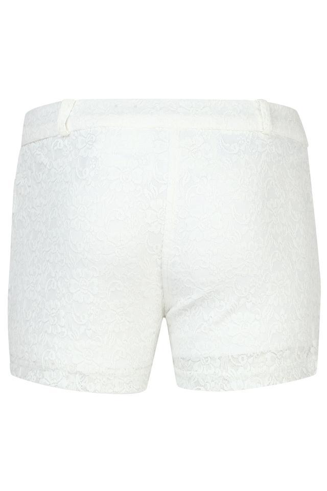 Girls 2 Pocket Lace Shorts