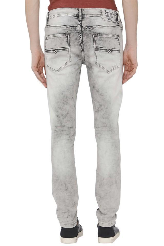 Mens 4 Pocket Acid Wash Jeans
