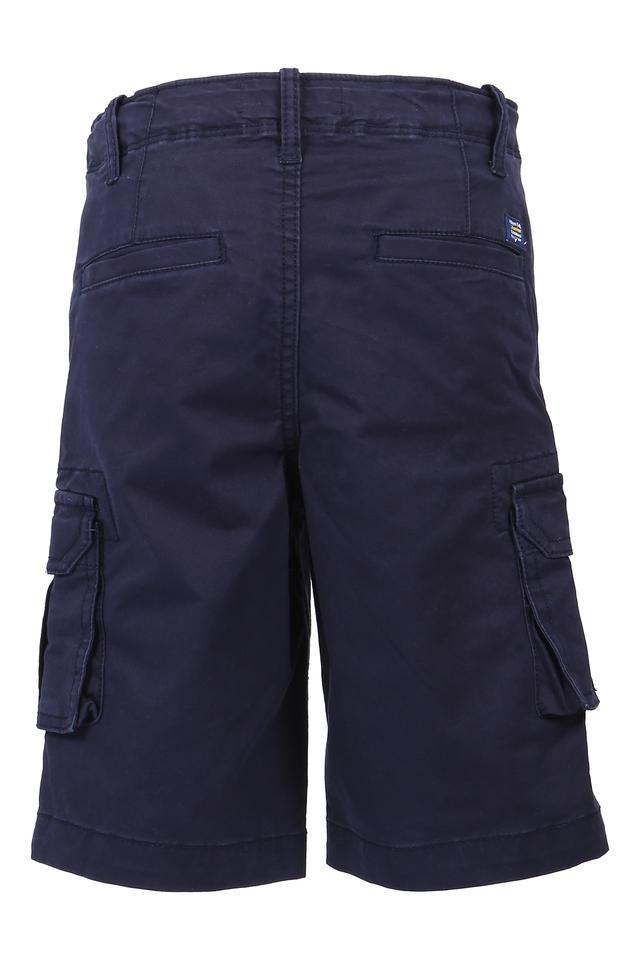 Boys 6 Pocket Solid Bermudas