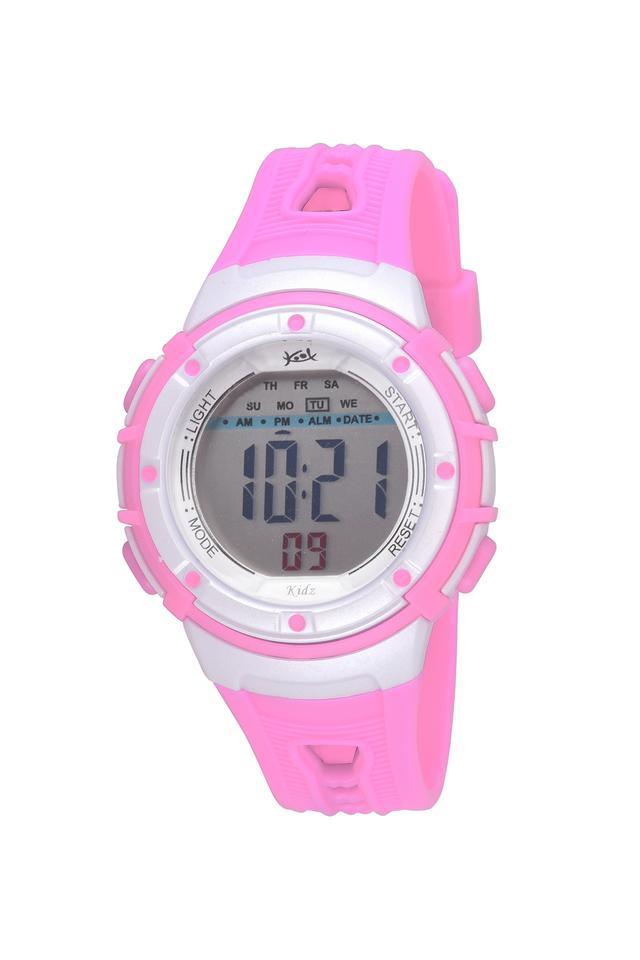 Unisex Plastic Grey Dial Digital Watch - KK210LPK