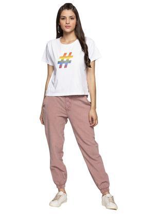 Womens 4 Pocket Stripe Joggers