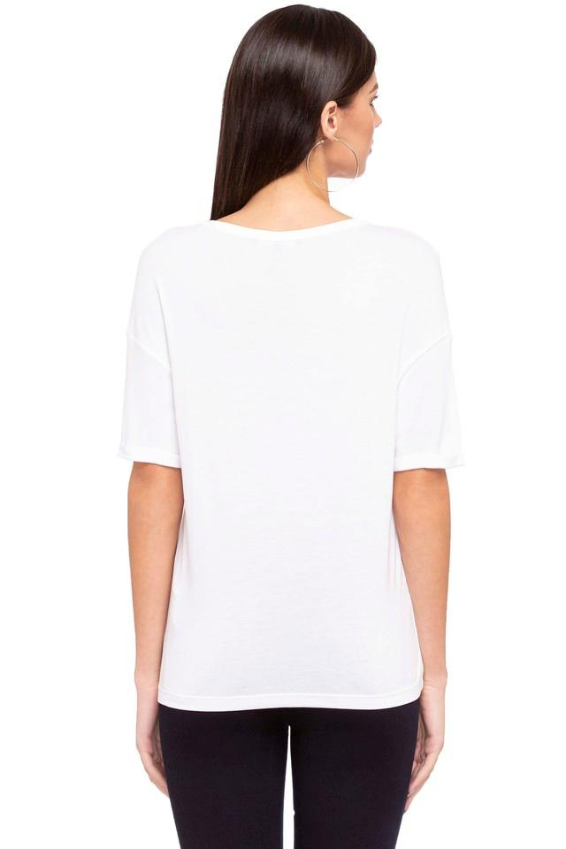 Womens V-Neck Printed T-Shirt