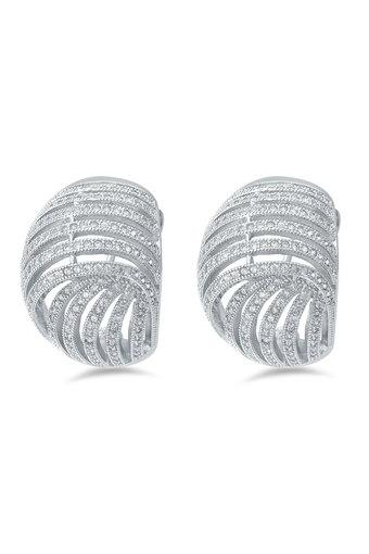 683b495e5 Buy SHAZE Womens Silver Plated Studs Earrings | Shoppers Stop