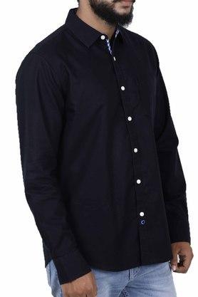 Mens Slim Fit Solid Shirt