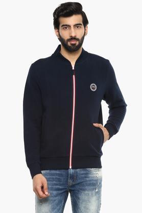 Mens Mao Collar Solid Sweatshirt