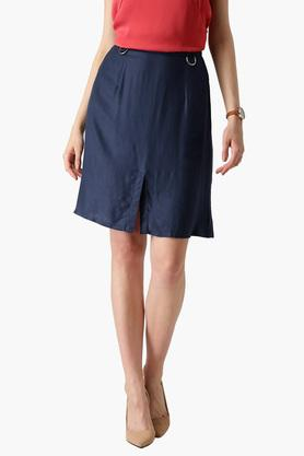 MARIE CLAIRE Womens Solid Casual Skirt