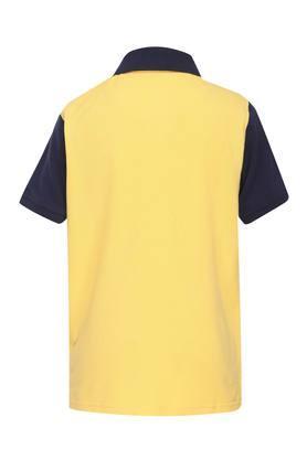 Boys Colour Block Polo Tee