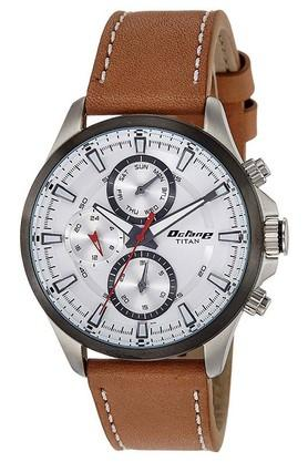 TITANMens Octane Active White Dial Multifunction Watch 90104KL01