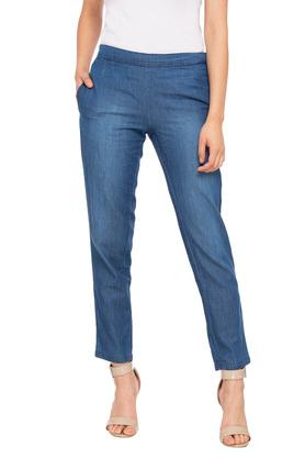 Womens 2 Pocket Washed Pants