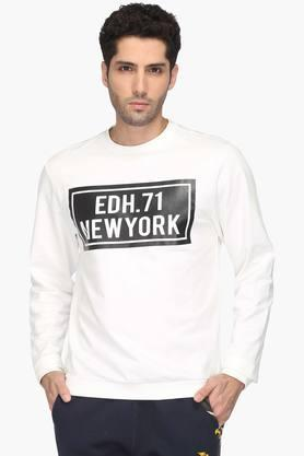 ED HARDYMens Slim Smart Fit Round Neck Printed Sweatshirt - 202964582